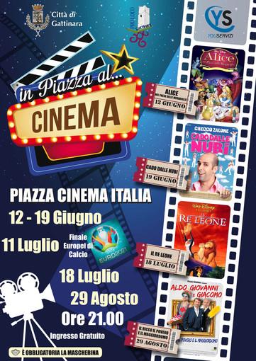 """Gattinara: """"IN PIAZZA AL CINEMA"""" 4 appuntamenti dedicati al cinema all'aperto"""