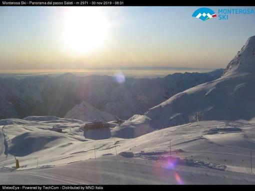 Foto webcam Monterosa Ski sabato 30 novembre