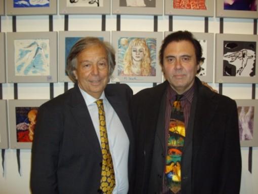 """Massimo Paracchini al Vernissage della mostra intitolata """"Los Angeles"""" alla Reggia Reale di Monza"""