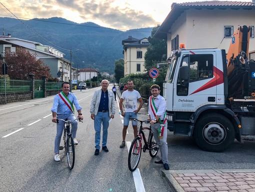 Consegnati i lavori per la realizzazione della pista ciclabile Varallo-Quarona