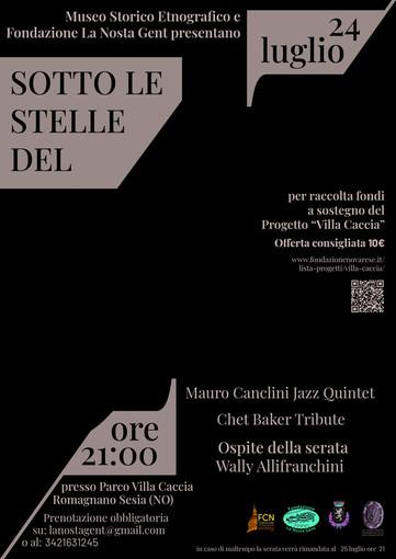 """Romagnano: Jazz a sostegno del Progetto """"Villa Caccia"""""""