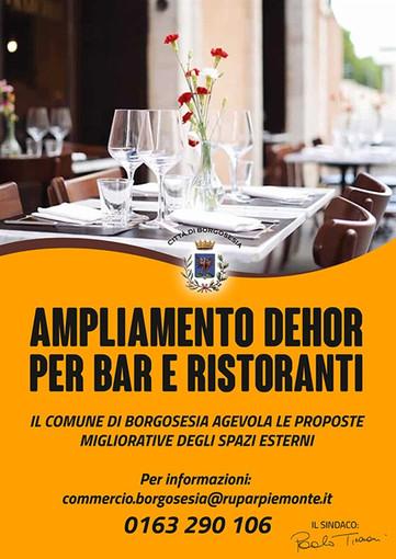 Borgosesia: Dehor per bar e ristoranti, il Comune agevola gli spazi esterni