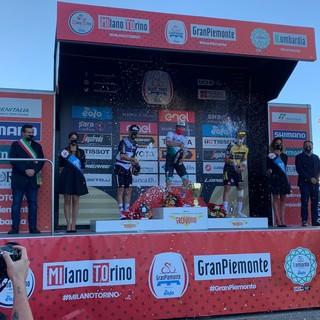 Il podio della Gran Piemonte a Borgosesia