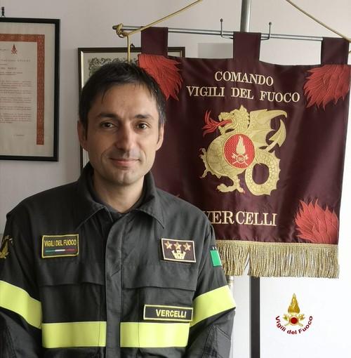 Il nuovo comandante dei Vigili del Fuoco di Vercelli Ciro Bolognese