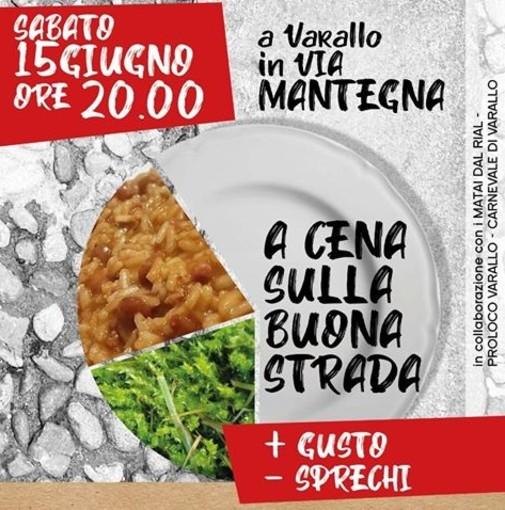 Una cena senza plastica a Varallo, lungo l'antica via Mantegna