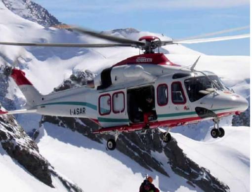 Incidenti sulle piste da sci della Valsesia: tre interventi dell'elisoccorso