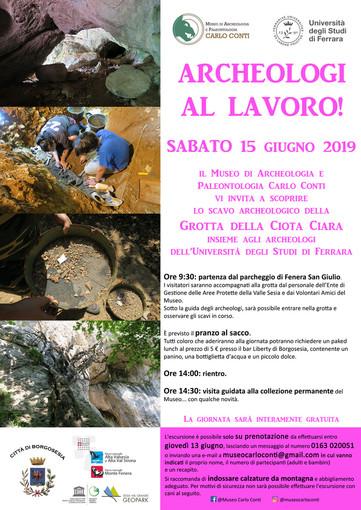 Archeologi al lavoro, alla scoperta della scavo nella grotta della Ciota Ciara sul monte Fenera