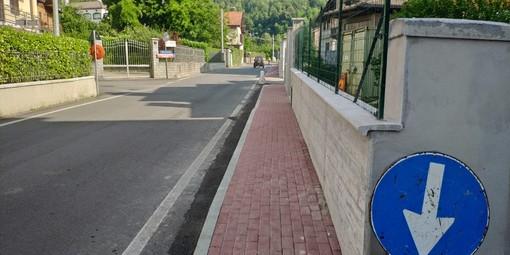 Lavori a Crevacuore: Quasi ultimato il marciapiede di via Garibaldi, poi toccherà a via Noche