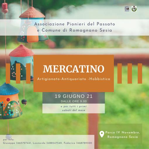Romagnano: Dal 19 giugno e per tutti i primi sabati del mese tutti al mercatino