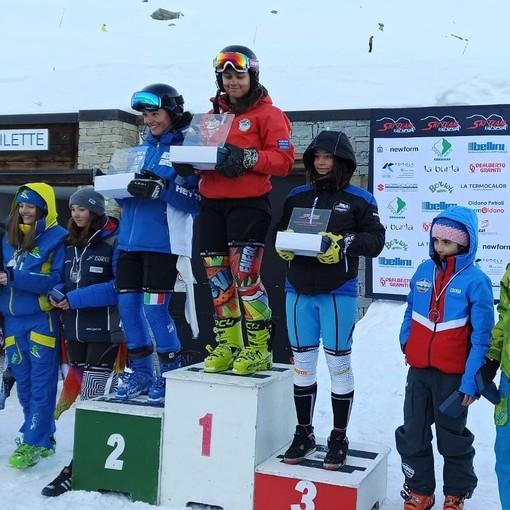 Podio Allieve Trofeo Ski Team Valsesia (Foto sito FISI)