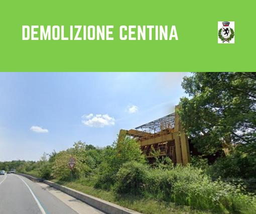 Romagnano Sesia: Si demolisce la struttura in disuso sulla tangenziale