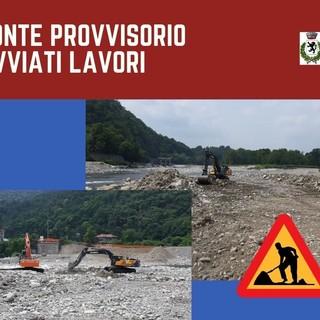 Riavviate le attività per il ripristino del ponte di Romagnano