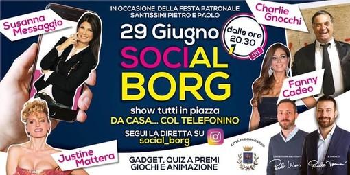 Al via SociAL BORG: PATRONALE 2.0. Charlie Gnocchi guiderà una diretta social con premi e sorprese per tutti