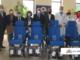 Quattro sedie a rotelle per la struttura di Riabilitazione funzionale