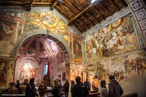 L'interno della chiesa San Marco a Varallo